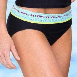 Athleta Tide Bikini Bottom size XS Black